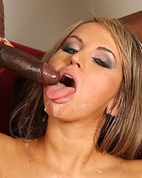 Aleska Diamond - A hot blonde gets double penetrated by big black cocks