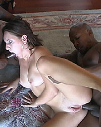Alice - Czech beauty interracial gangbang with DP