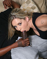 Allie Foster - Big tits blond 4-on-1 interracial gangbang CUM