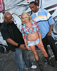 Aria Austin, Blacks on Blondes - Aria Austin, blonde, threesome, Charlie Mac, Mark Anthony, BlacksOnBlondes.com, anal, facial, interracial, pornstars, hardcore