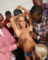 Pregnant Interracial Gangbang Britney Young's Second Appearance
