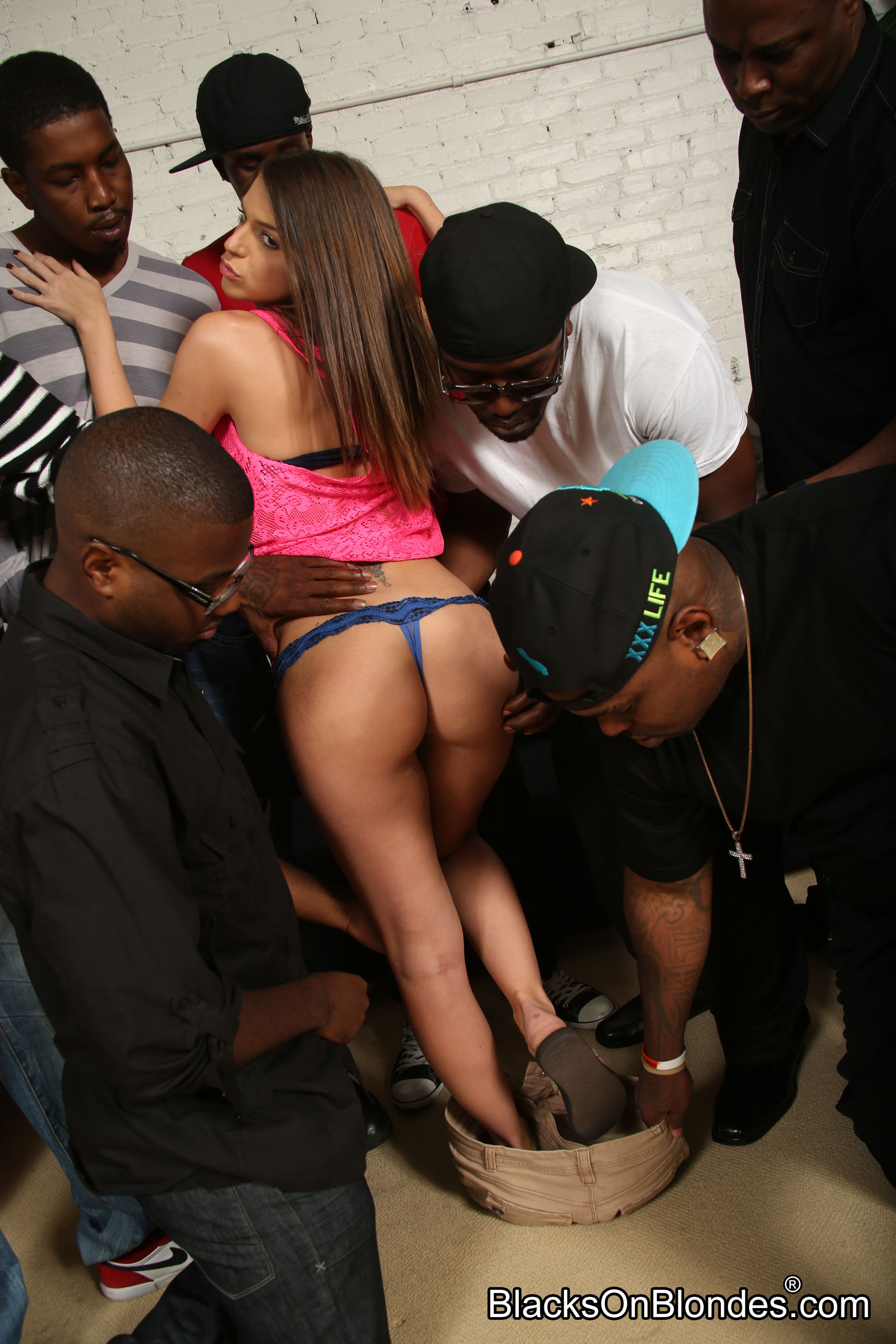 Brooklyn chase gangbang blacks on blondes