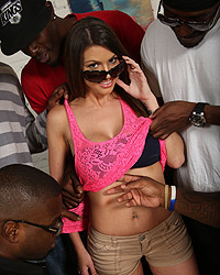 Brooklyn Chase's Second Appearance Interracial Gangbangs