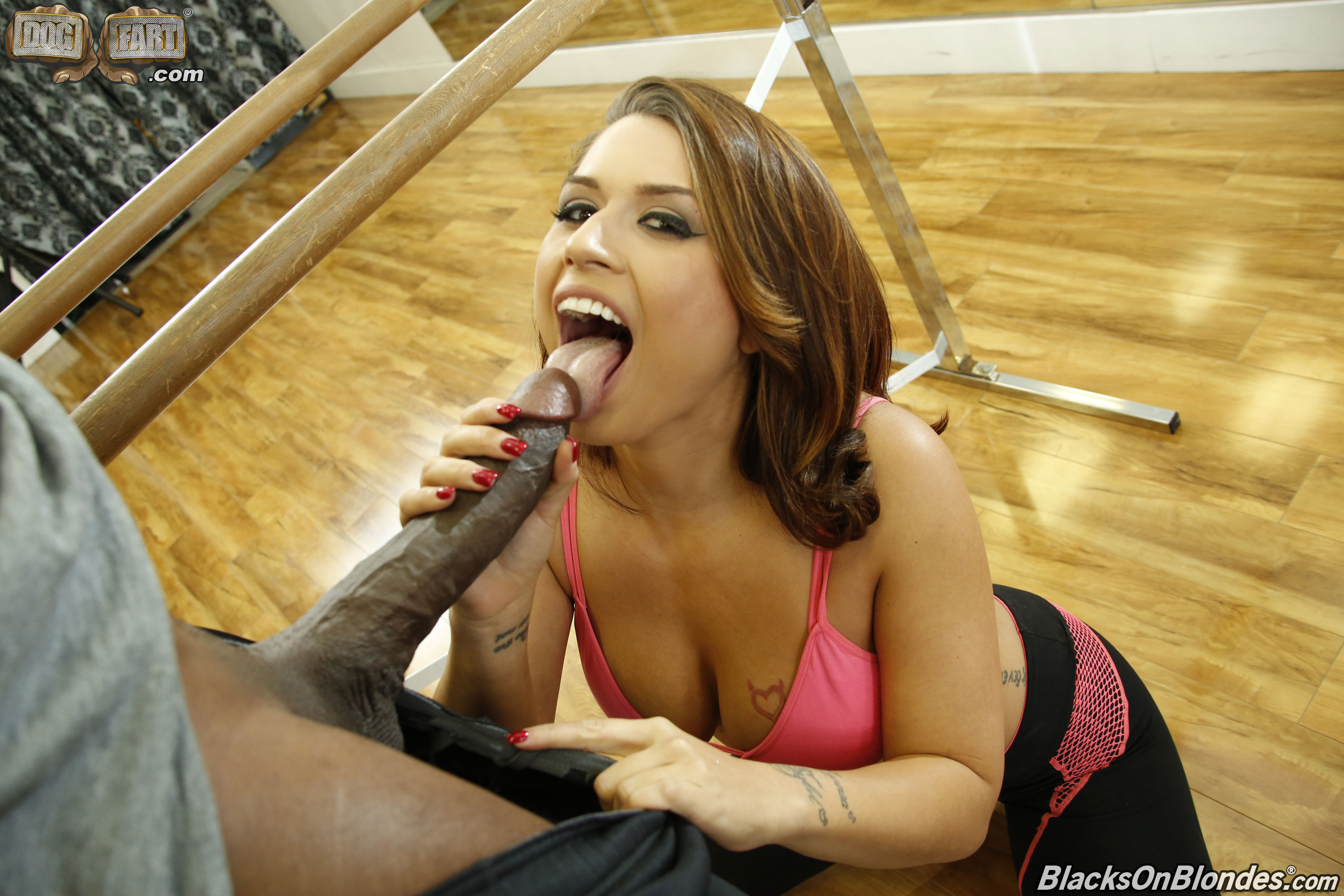 Behind black cock from