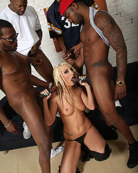 Hailey Holiday Black Cock Photos