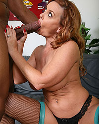 Janet Mason Returns - Cougar Janet Mason gets a giant black dick