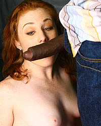 Lucy Fire -  redhead interracial gangbang & cumeating