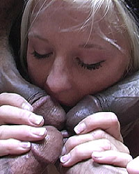 Mackenzie - Blonde interracial gangbang anal, DP & cumeating
