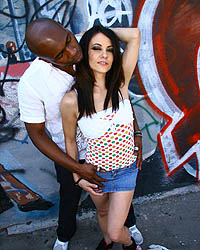 Marley Jane Anal - Brunette interracial anal, ass-2-mouth, & cumeating