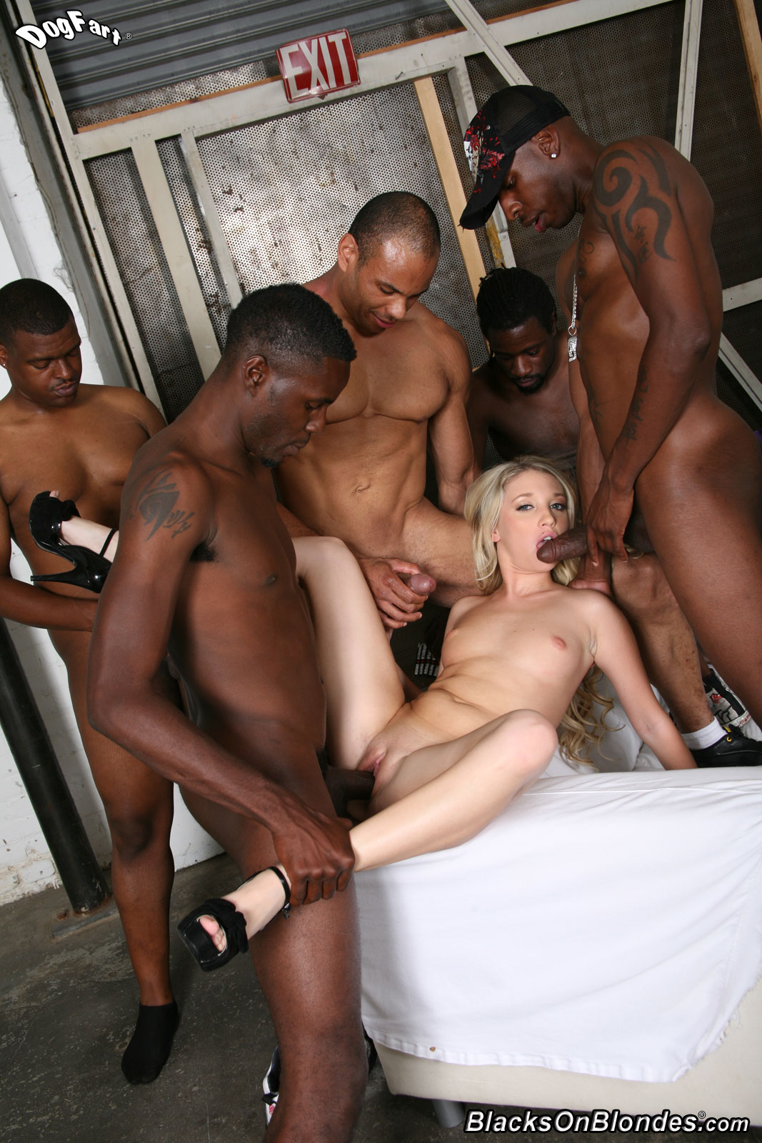 black on blondes naked