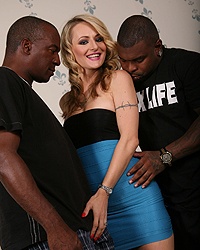 Natasha Starr, Blacks on Blondes - Natasha Starr, blonde, threesome, gangbang, BlacksOnBlondes.com, interracial, pornstars, hardcore
