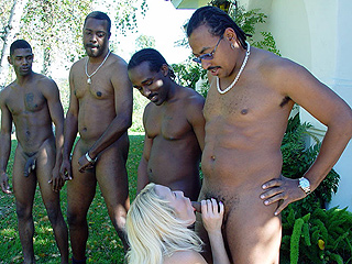Olivia Saint black gangbanged outdoors on blacks on blondes blog