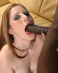 Ruby Flame - Redhead gets interracial fuck & cumeating