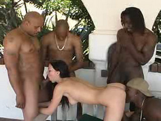 Trina takes several black cocks on blacks on blondes blog