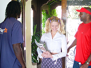 Blonde Violet interracial team-up fucked on blacks on blondes blog