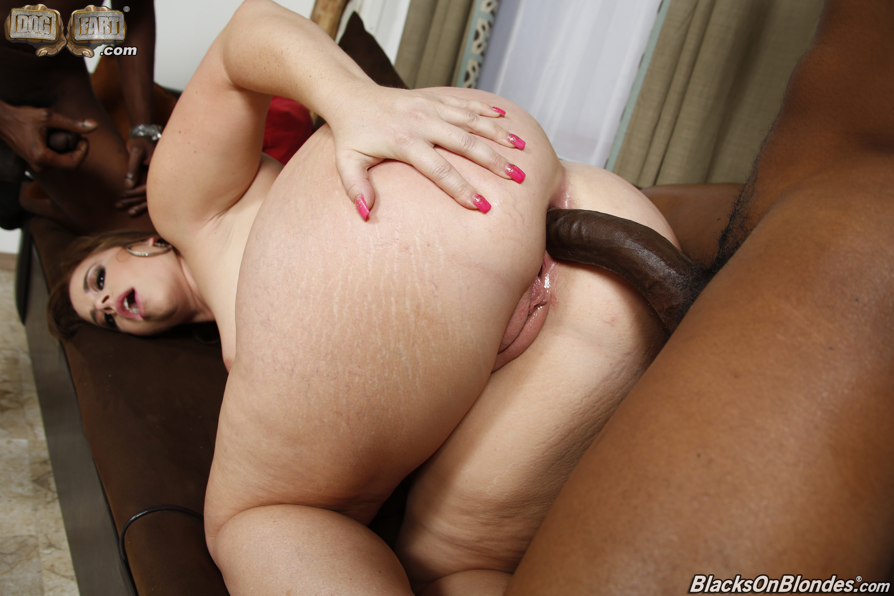 Interracial ass tube
