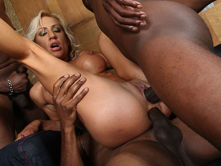 Gangbang big interracial