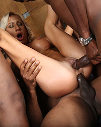 Blonde interracial anal-41343